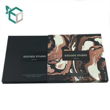 custom gift box eyeshadow palette pan packaging box cosmetic box with mirror