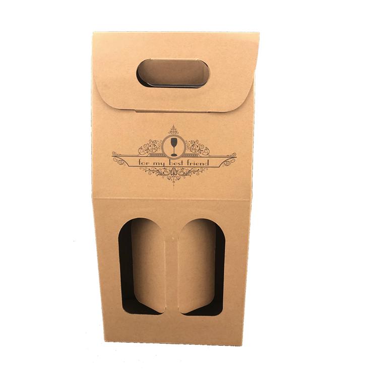 Custom Kraft Paper Packing Single Bottle Wine