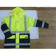 Hi Visibility Polyester Oxford 6 in 1 Jacket with Reflective Tape