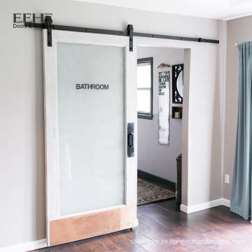 Puerta de madera del dormitorio interior del estilo europeo revestido barato del PVC