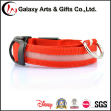 Rechargeable LED Glow/ Flashing Polyester Night safety Dog Collars