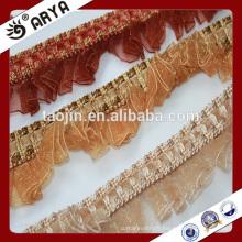 2015 stock marchandises belle frange de ruban pour décoration de rideaux et autres textiles à la maison