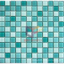 Seagreen Bathroom and Swimming Pool Crystal Glass Mosaic Tile (CFC183)