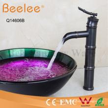 Antique Black-Copper Orb Bamboo Shape High Body Vessel Faucet Basin Faucet