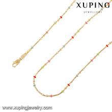 43079 xuping charme novo colorido artificial imitação de cadeia longa de ouro colar
