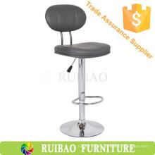 Taburete de cuero barato de la PU / silla de la barra con respaldo