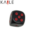 15mm Round Corner Custom Black with Hot Dots Dice