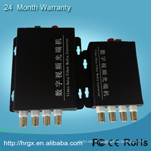 Multiplexeur visuel analogique de 4 canaux / émetteur vidéo coaxial / multiplexeur de CCTV par coaxial