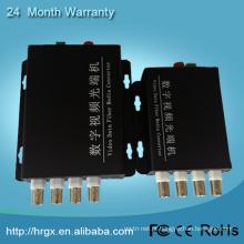 Multiplexer video análogo de 4 canaletas / transmissor video coaxial / multiplexer do CCTV por coaxial