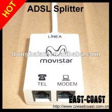 south American market rj11 rj45 adsl splitter