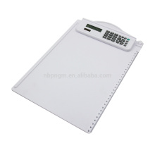 8 Digits Fancy A4 Size Plastic Clipboard Calculator