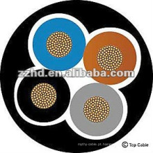 núcleo de cobre 4 núcleos cabo de borracha de silicone