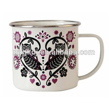 Vintage enamel mug with customized logo