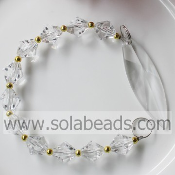 Loose 285MM Length Crystal Beaded Drop