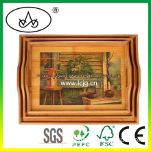 Wooden Table Decorative Serving Plate for Hotel/Food/Fruit/Restaurant/Kitchen (LC-367B)