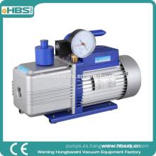 Bomba de vacío profunda de doble etapa con paleta giratoria de 1 HP 10.0 CFM Herramientas HVAC con manómetro para refrigerante AC R410A