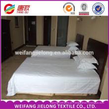 China Atacado de Alta Qualidade 100% Algodão Branco Cetim Listra Tecido hotel roupa de cama de linho / tecido de cetim da listra para conjuntos de cama / cama