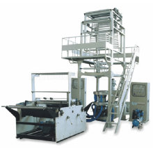 Two Layer Coextrusion Rotary-Die Head Fully Automatic Rewinding Film Blowing Machine Set (SJ-50X2/FM1100)
