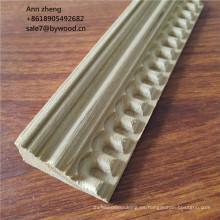 Techo de madera de teca moldeada cornisa molduras de corona molduras mdf