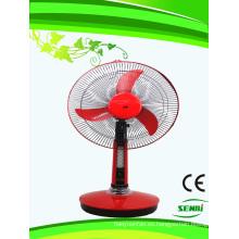 Ventilador de mesa solar con ventilador recargable de 16 pulgadas y 12 V CC