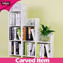 Petite bibliothèque en plastique blanche de stockage d'étagère de WPC pour le salon