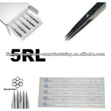 Alta qualidade 316L aço cirúrgico feito Liner tatuagem agulhas para profissionais apenas
