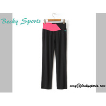 Lady's Yoga Wear Sport Wear Pantalons de yoga à long style Loose