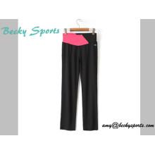 Женская йога износ спортивной одежды йоги штаны с длинным Loose стиль