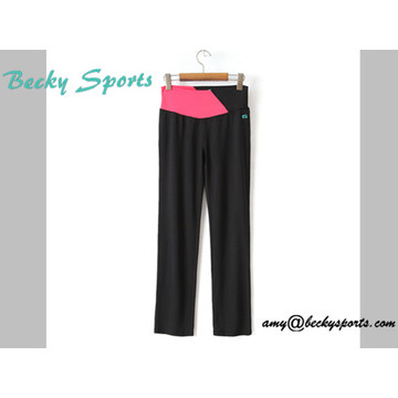 Lady′s Yoga Wear Sport Wear Yoga Pants with Long Loose Style