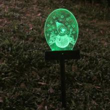 Luz de césped de proyección solar 3D L2008
