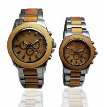 Hlw095 homens do sexo masculino e mulheres relógio de madeira de bambu relógio de pulso de alta qualidade