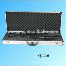 boîtier de pistolet de fusil en aluminium de haute qualité avec de la mousse à l'intérieur