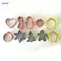 Benutzerdefinierte Kunststoff Rim Metal Christmas Cookie Cutter Set
