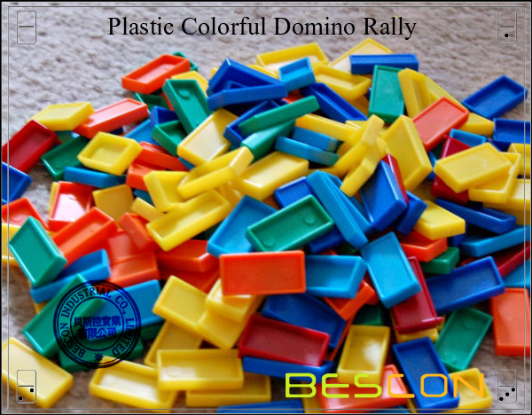 Plastic Colorful Domino Rally