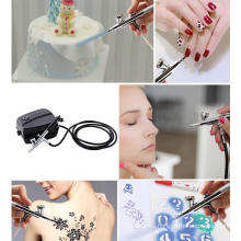 Beauty Nail Makeup Painted DIY Household Portable Fondant Decorating Airbrush Model Air Pump Set