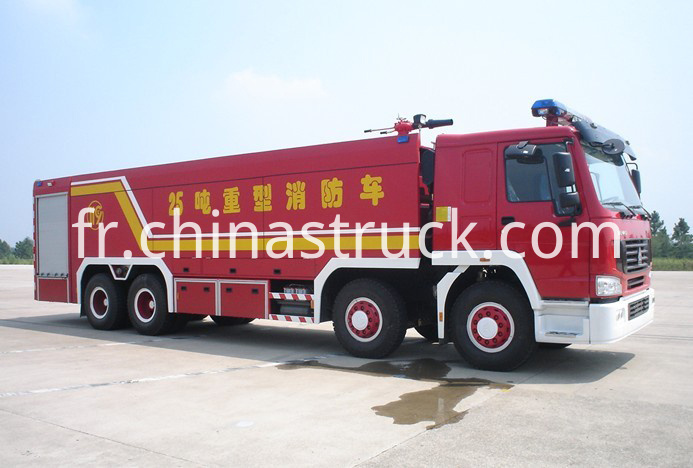 25T HOWO water tanker and foam fire truck