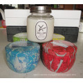 Customized Decorative Scented Soy Candle in Glass with Metal Lid