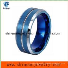 Shineme Jewelry Blue Plated Man Tungsten Ring (TST2867)