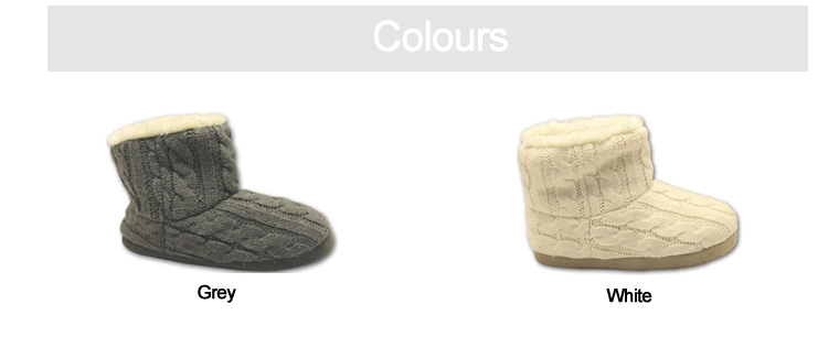 Women's knitting upper indoor slippers