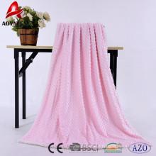 100% poliéster pressão bolha micromink sherpa cobertores