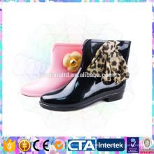 modern shiny half rain boots for women