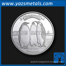 customize metal coins, custom high quality the antartica penguin coin