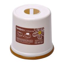 Round Plastic Creative Tissue Box (ZJH043)