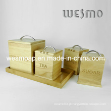 Recipiente de armazenamento de bambu definido (WKB0307A / B / C, WKB0308A)