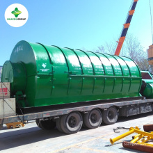 30Ton Continuous waste tyre recycling pyrolysis plant without coking problem