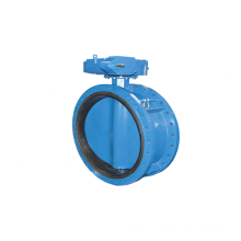 Ductile iron flange type butterfly valve DI hand operated double flanged butterfly valve