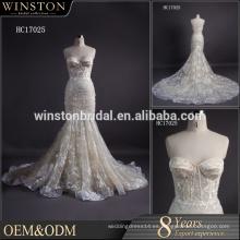 Nuevo llega la sirena verdadera del vestido de boda del organza del amor del cuadro