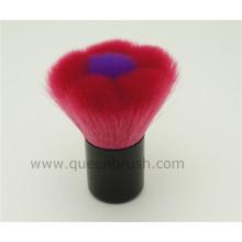 Cepillo de maquillaje Kabuki con forma de flor sintética