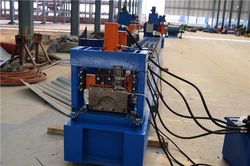 Zinc Trapezoidal Metal Ridge Cap Cold Forming Machine