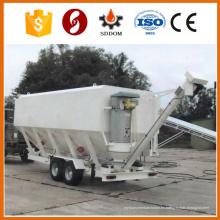 Camión remolque cemento silo, silo cemento horizontal, silo de cemento móvil